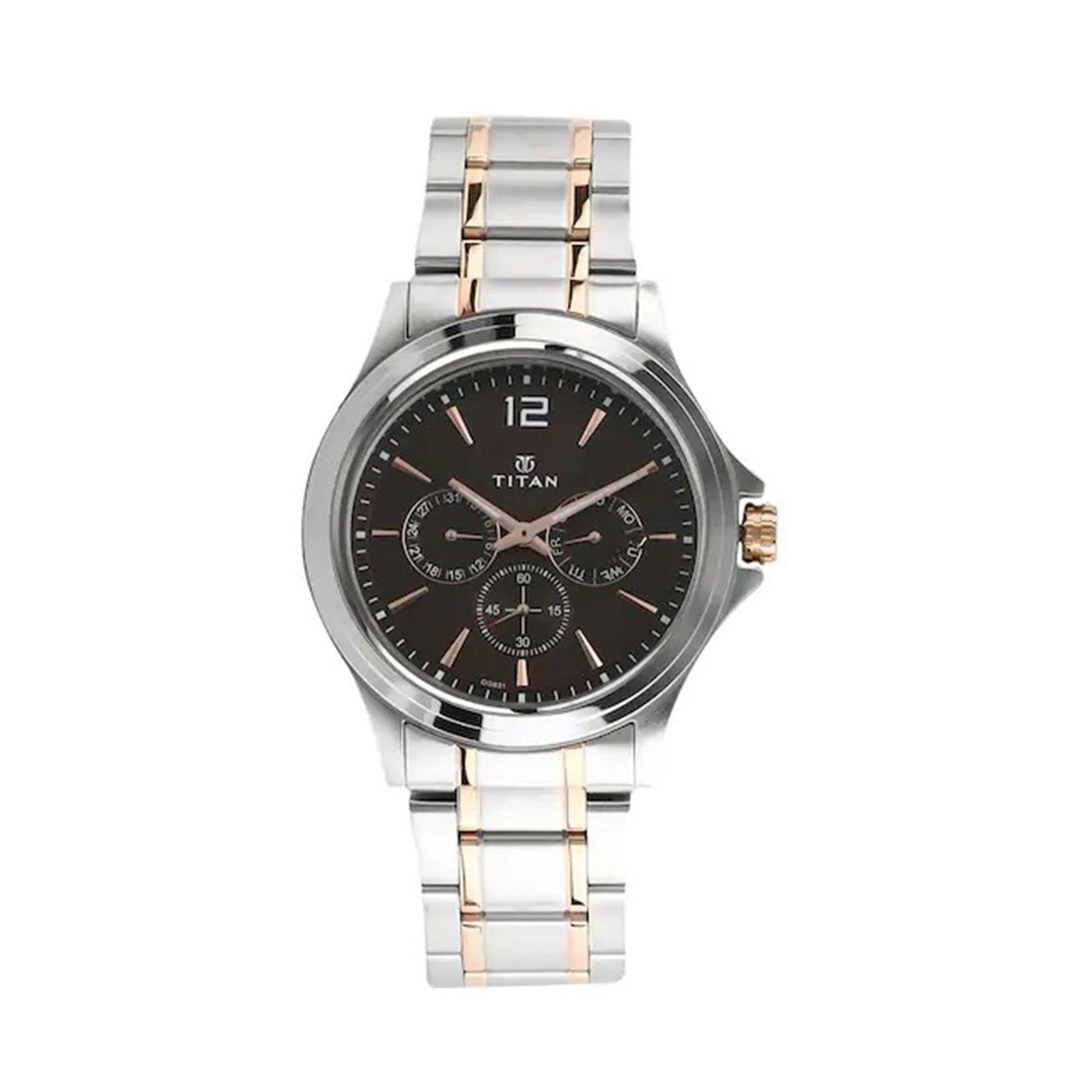 ساعت مچی عقربه ای مردانه تیتان مدل T1698KM01 -  - 2