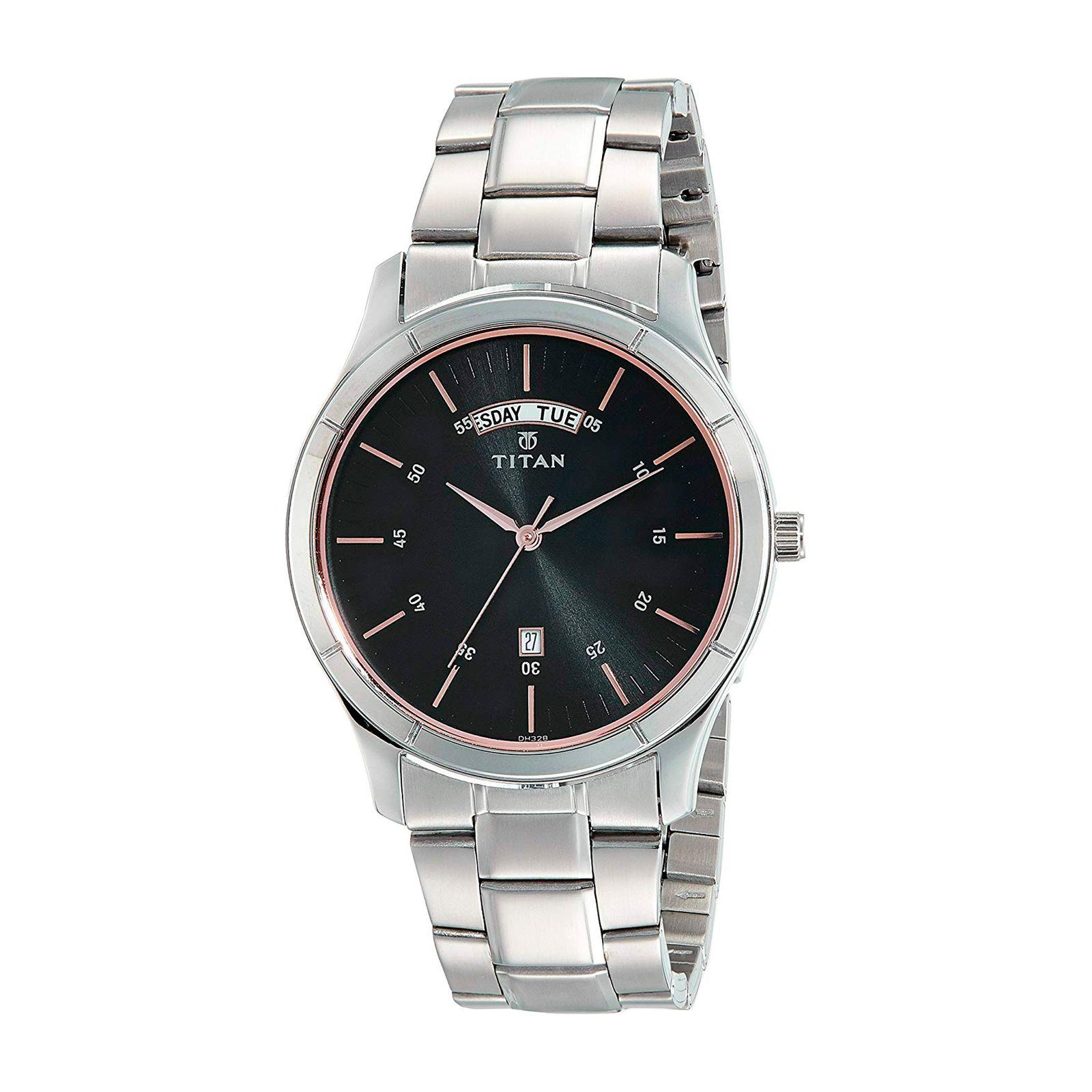 ساعت مچی عقربه ای مردانه تیتان مدل T1767SM02 -  - 2