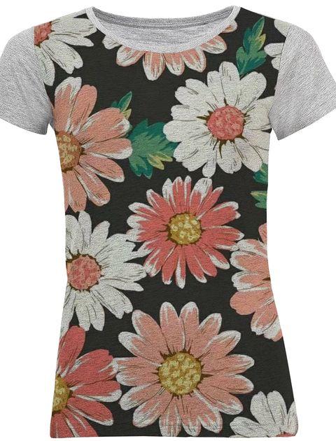 تی شرت آستین کوتاه زنانه کد M07