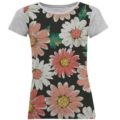 تصویر تی شرت آستین کوتاه زنانه کد M07