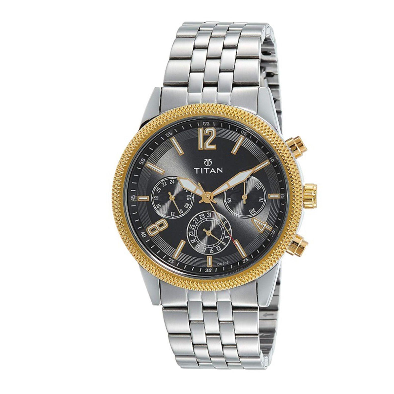 ساعت مچی عقربه ای مردانه تیتان مدل T1734BM01 -  - 2