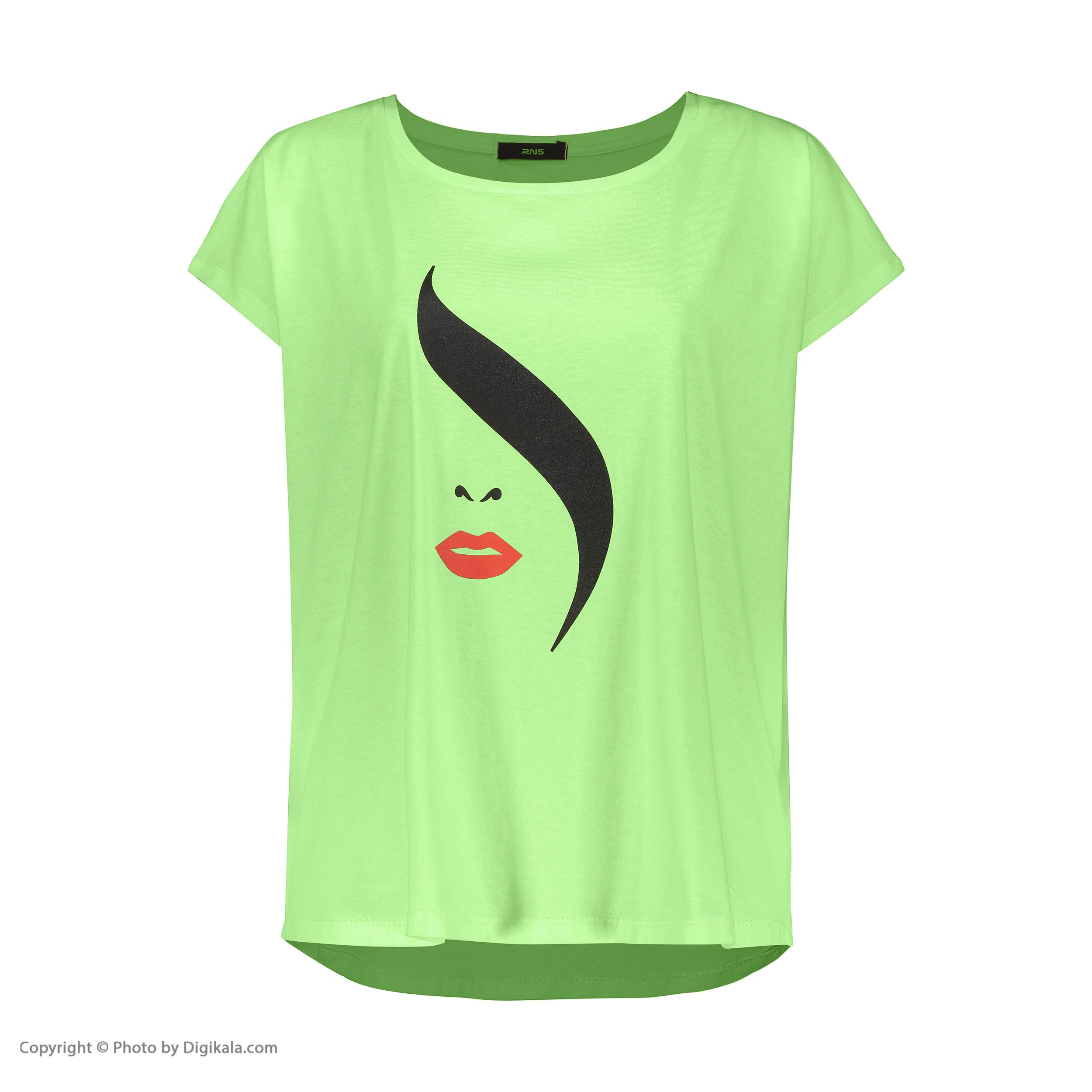 تی شرت زنانه آر ان اس مدل 1102049-43 -  - 2