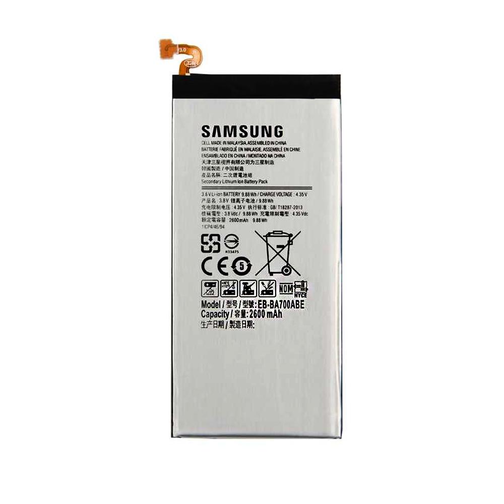 باتری موبایل مدل EB-BA700ABE ظرفیت 2600 میلیآمپر ساعت مناسب برای گوشی موبایل سامسونگ Galaxy A7 2015 thumb