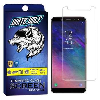 محافظ صفحه نمایش وایت ولف مدل WGS مناسب برای گوشی موبایل سامسونگ Galaxy A6 Plus 2018