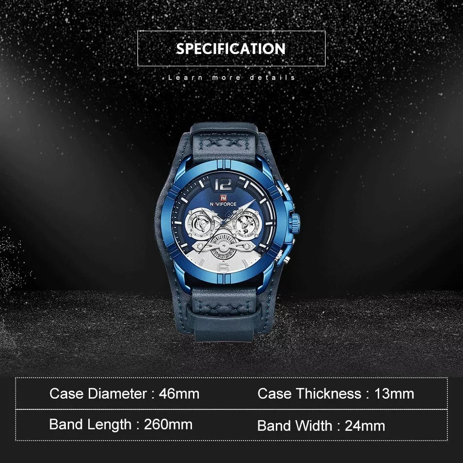 ساعت خرید اینترنتی ساعتمردانه نیوی فورس کد NF9162M -BE-BE-BE