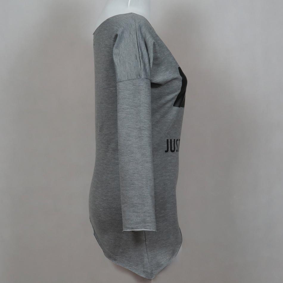 تی شرت آستین بلند نه کد brfp-161 رنگ طوسی