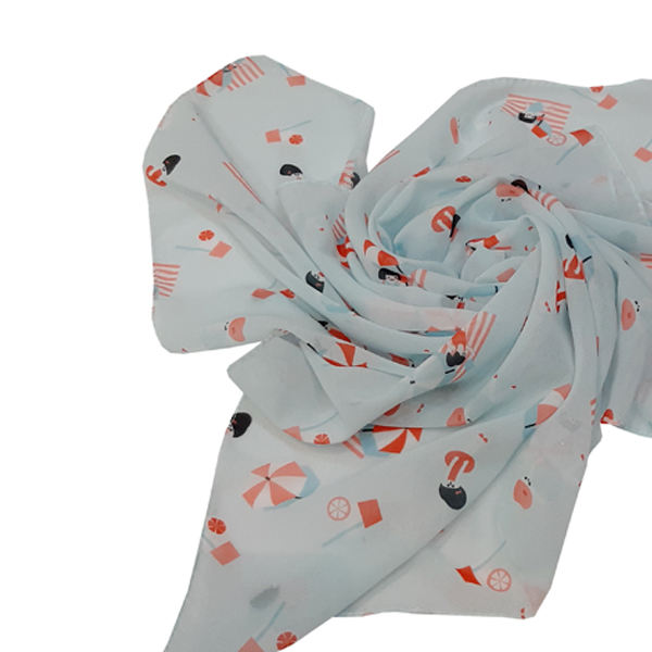 روسری دخترانه مدل تتیس کد 03601  -  - 2