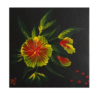 Photo of تابلو نقاشی رنگ روغن طرح گل کد 22