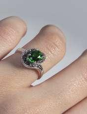 انگشتر نقره زنانه بازرگاني ميلادي  کد AW_090 -  - 2
