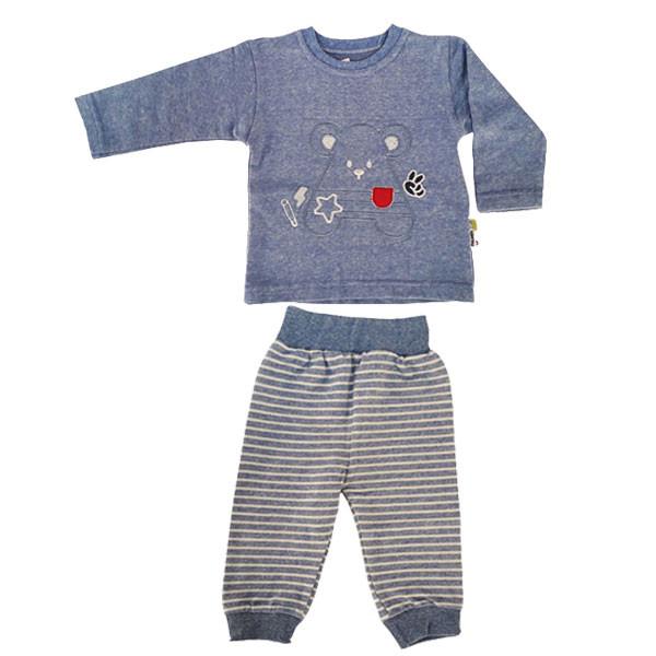 ست تی شرت آستین بلند و شلوار نوزادی پولونیکس طرح موش کد 31901