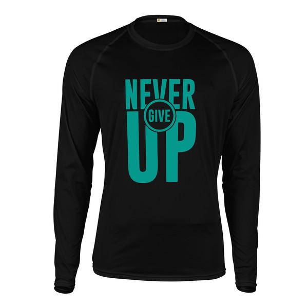تیشرت آستین بلند مردانه پاتیلوک طرح Never Give Up کد 330792