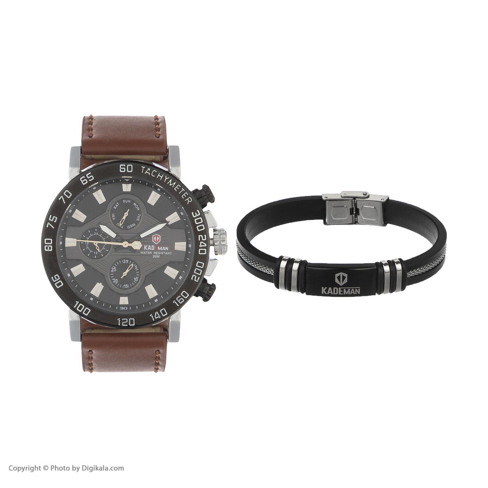ساعت مچی عقربه ای مردانه کیدمن کد 08 به همراه دستبند -  - 2