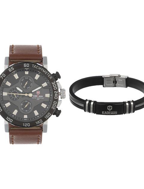 ساعت مچی عقربه ای مردانه کیدمن کد 08 به همراه دستبند