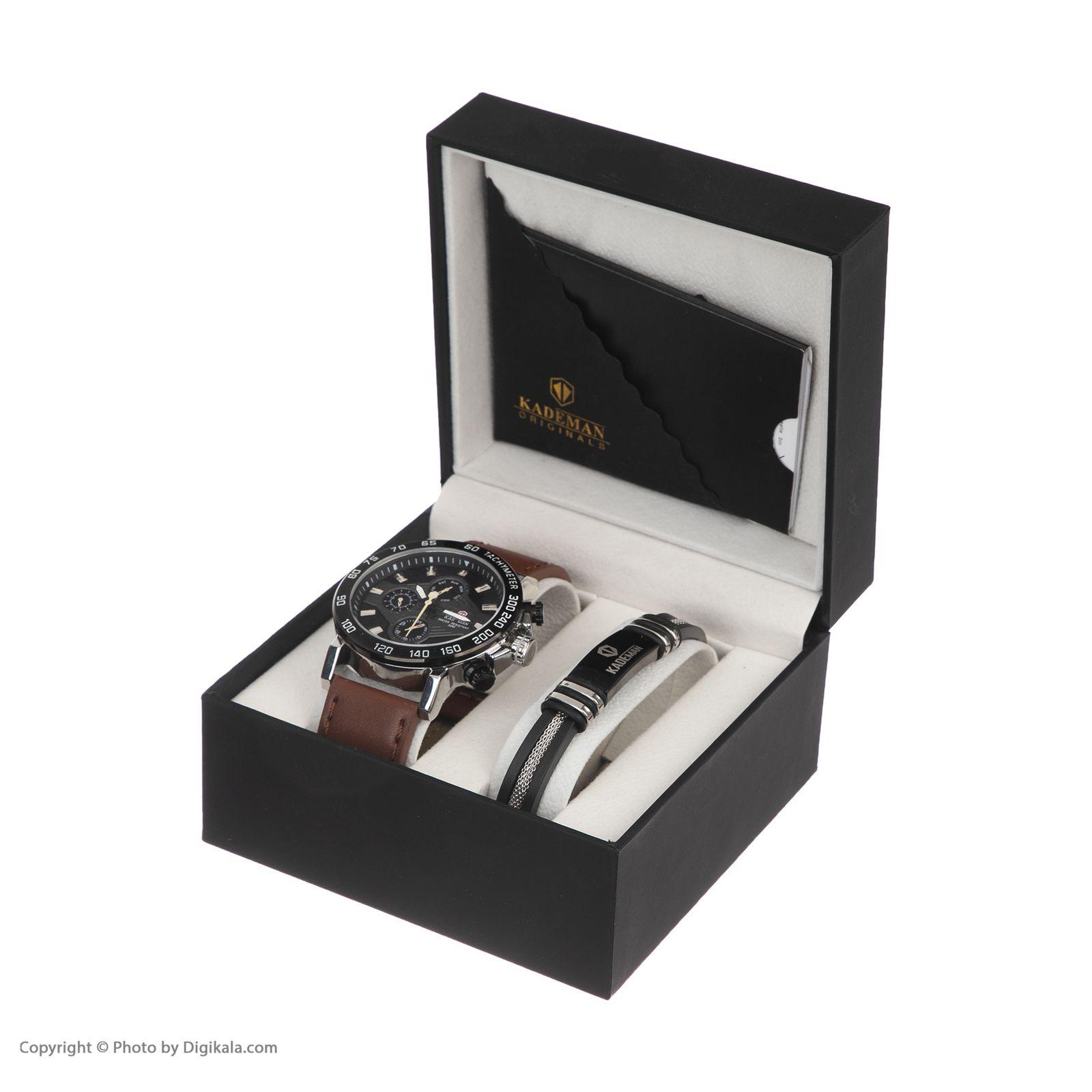 ساعت مچی عقربه ای مردانه کیدمن کد 08 به همراه دستبند -  - 9