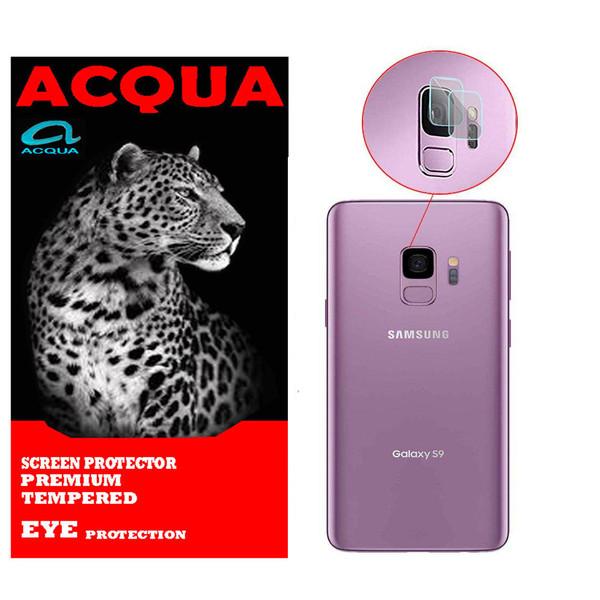 محافظ لنز دوربین آکوا مدل LN مناسب برای گوشی موبایل سامسونگ GALAXY S9 بسته 2 عددی