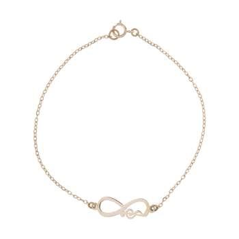 دستبند طلا 18 عیار زنانه کانیار گالری کد DZ232