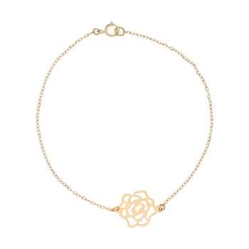 دستبند طلا 18 عیار زنانه کانیار گالری کد DZ163