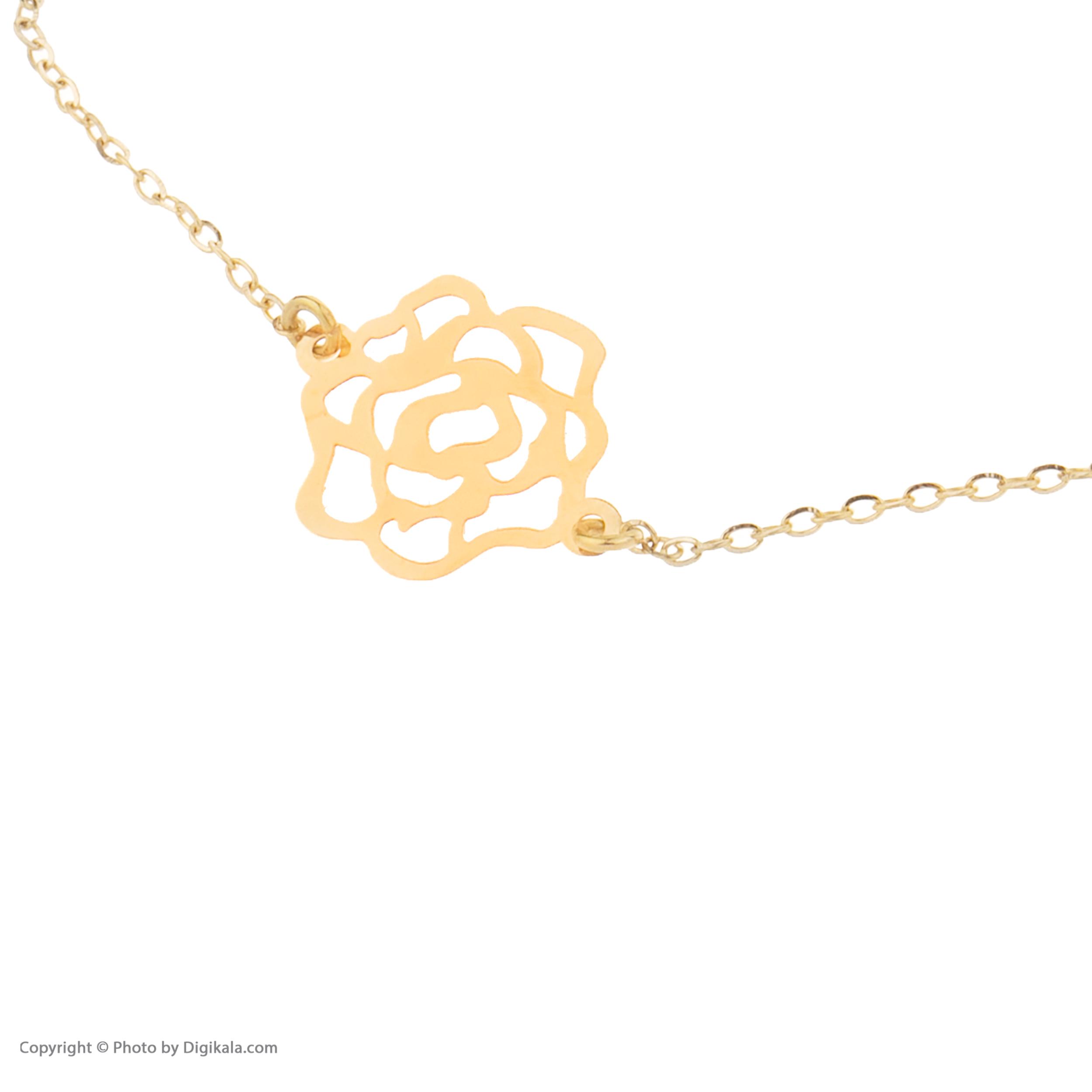 دستبند طلا 18 عیار نه کانیار گالری کد DZ163