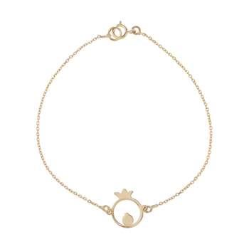 دستبند طلا 18 عیار زنانه کانیار گالری کد 1298