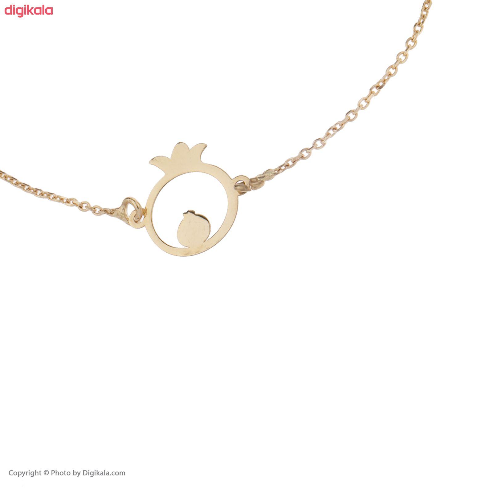دستبند طلا 18 عیار نه کانیار گالری کد 1298