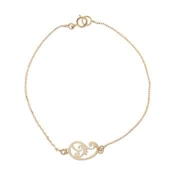 دستبند طلا 18 عیار زنانه کانیار گالری کد 1299