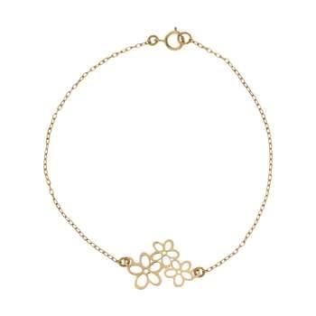 دستبند طلا 18 عیار زنانه کانیار گالری کد 1512