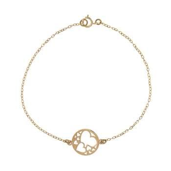 دستبند طلا 18 عیار زنانه کانیار گالری کد 1515