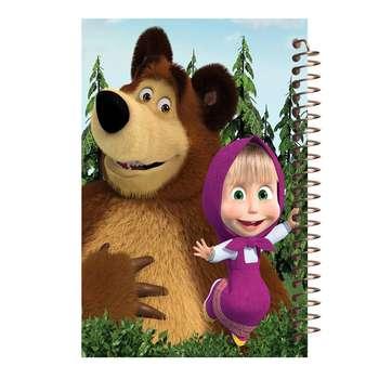 دفتر نقاشی مشایخ طرح ماشا و خرسه کد 1016