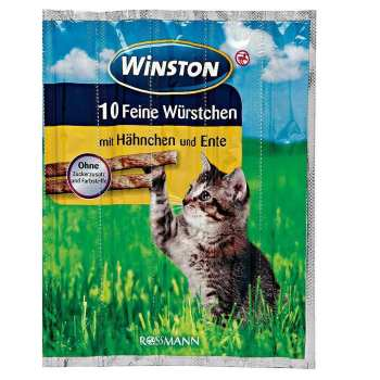 تشویقی گربه وینستون مدل Hähnchen & Ente بسته 5 عددی