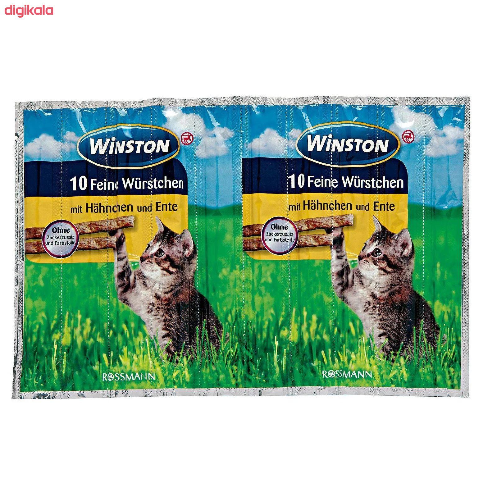 تشویقی گربه وینستون مدل Hähnchen & Ente بسته 5 عددی main 1 1