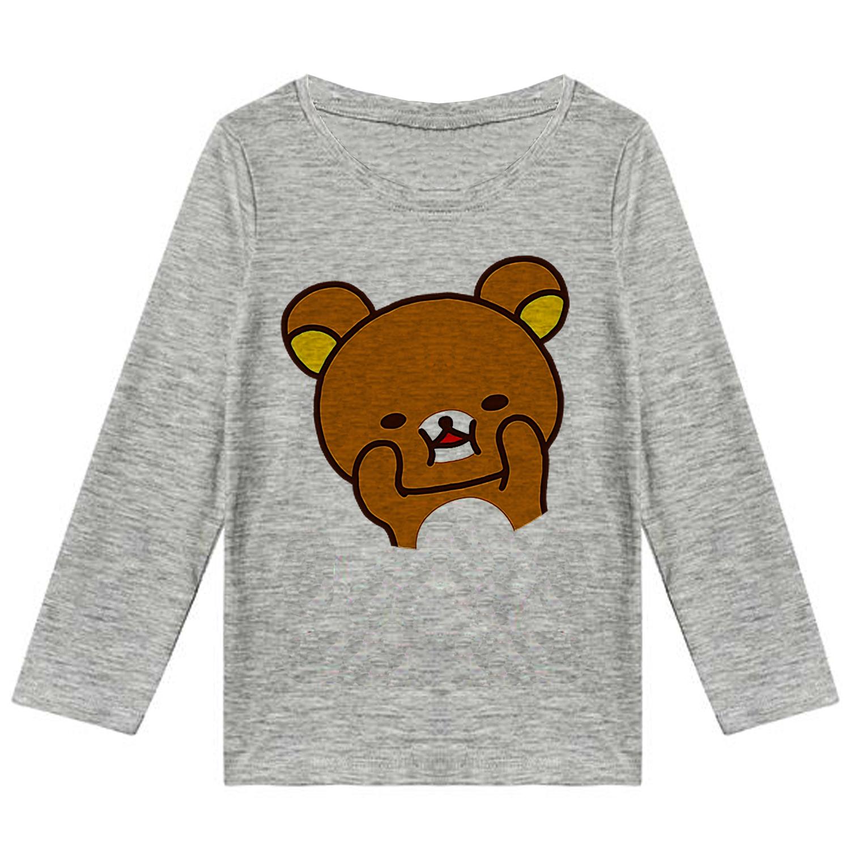 تصویر تیشرت آستین بلند دخترانه طرح خرس کوچولو کد F90