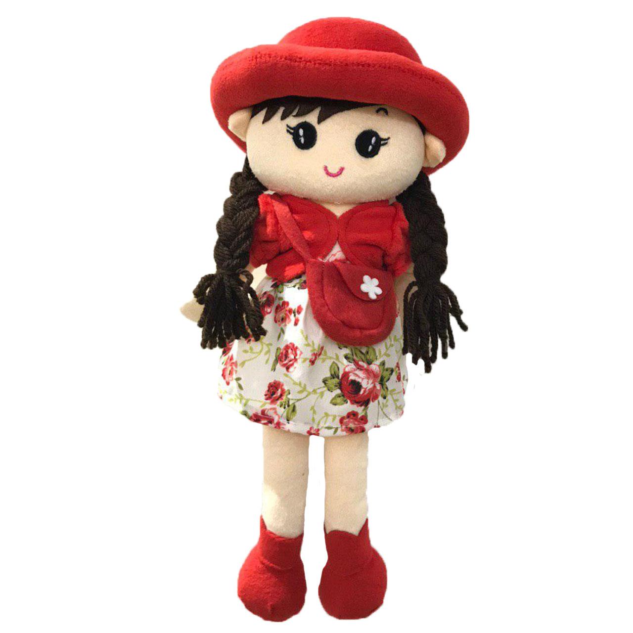 خرید                     عروسک طرح دختر موبلند کیف دار ارتفاع 40 سانتی متر