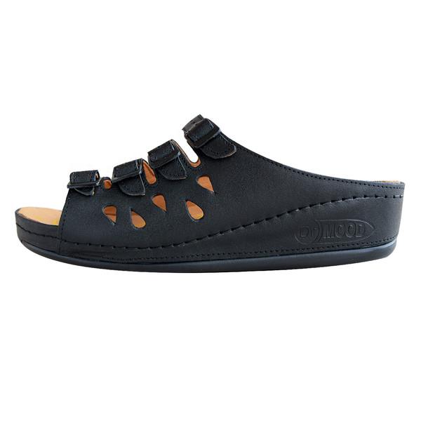 دمپایی زنانه کفش آداک مدل دکتر مود کد 104 رنگ مشکی
