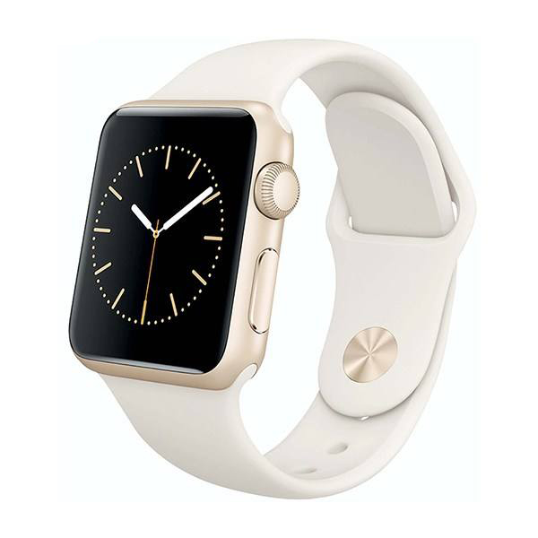 ساعت هوشمند اپل واچ سری 1 مدل 38mm Gold Aluminum Case with Antique White Sport Band