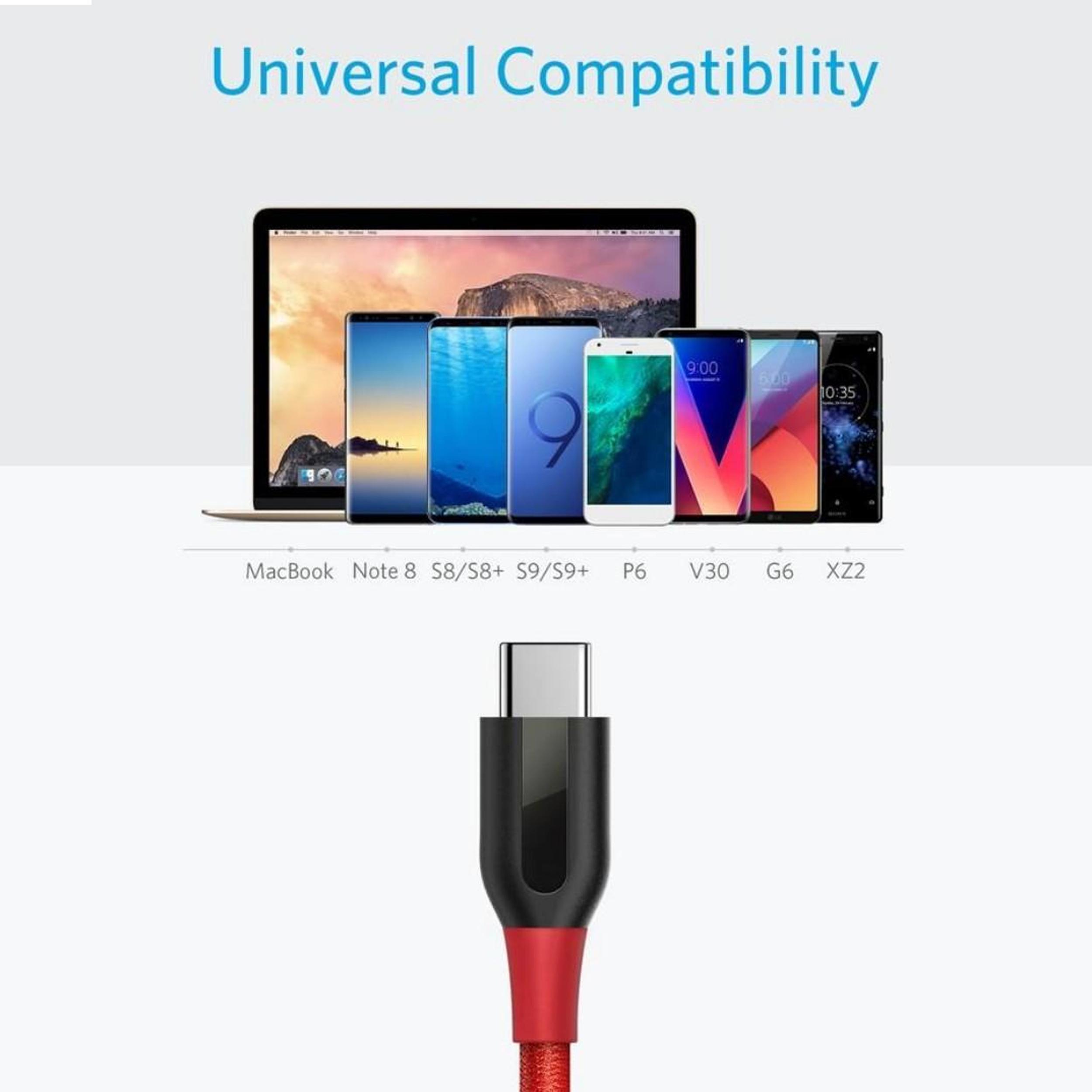 کابل تبدیل USB-C به USB انکر مدل A8168 PowerLine Plus طول 0.9 متر main 1 7
