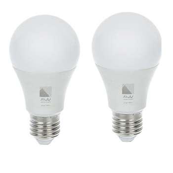 لامپ ال ای دی 10 وات پایدار کد 001 پایه E27 بسته 2 عددی