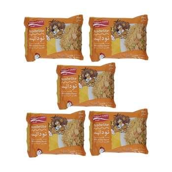 نودالیت با طعم مرغ آماده لذیذ - 75 گرم بسته 5 عددی