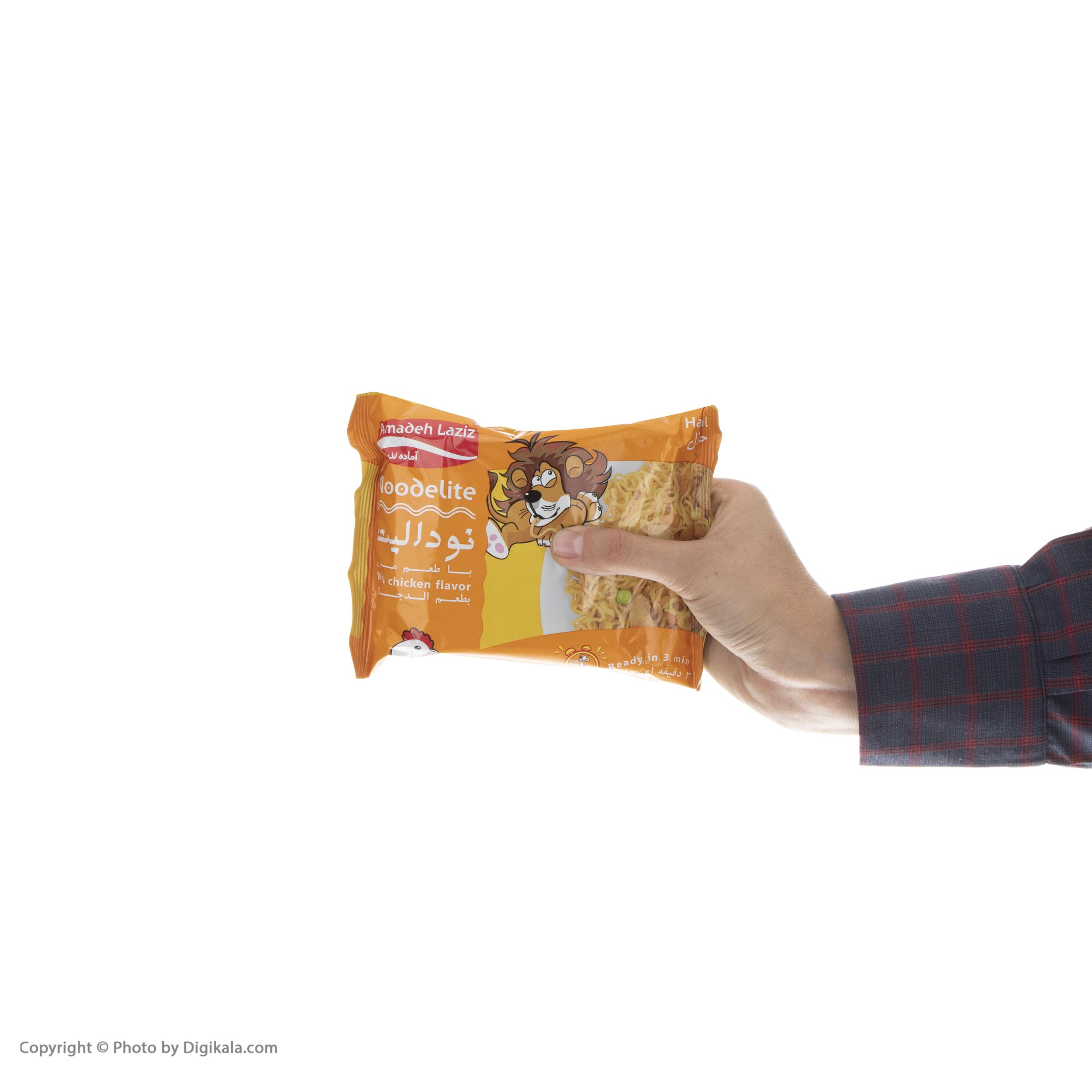 نودالیت با طعم مرغ آماده لذیذ - 75 گرم بسته 5 عددی main 1 9