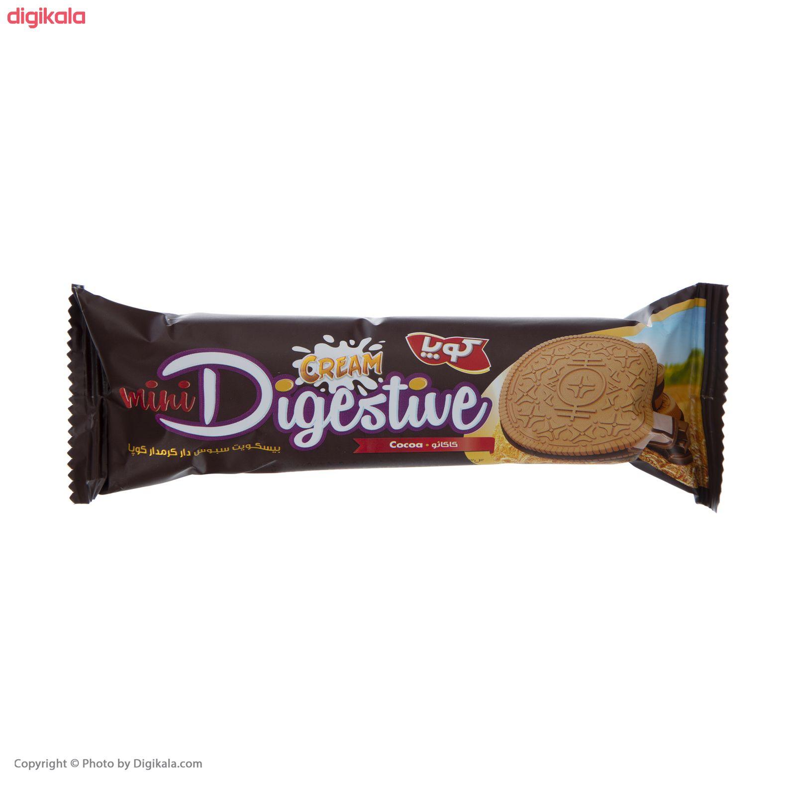 بیسکویت کرمدار دایجستیو کوپا با طعم کاکائو - بسته 24 عددی main 1 3