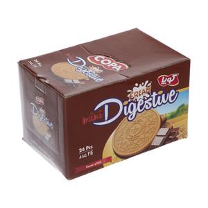 بیسکویت کرمدار دایجستیو کوپا با طعم کاکائو - بسته 24 عددی
