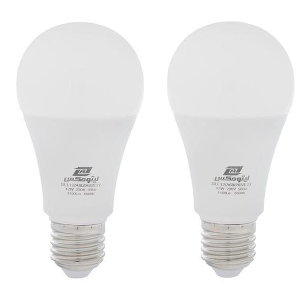 لامپ ال ای دی 12 وات لیتومکس کد 001 پایه E27 بسته 2 عددی