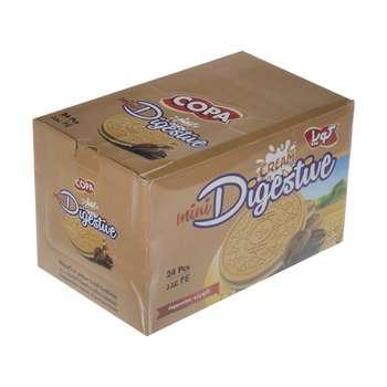 بیسکوئیت کرمدار دایجستیو کوپا با طعم کاپوچینو - 75 گرم بسته 24 عددی