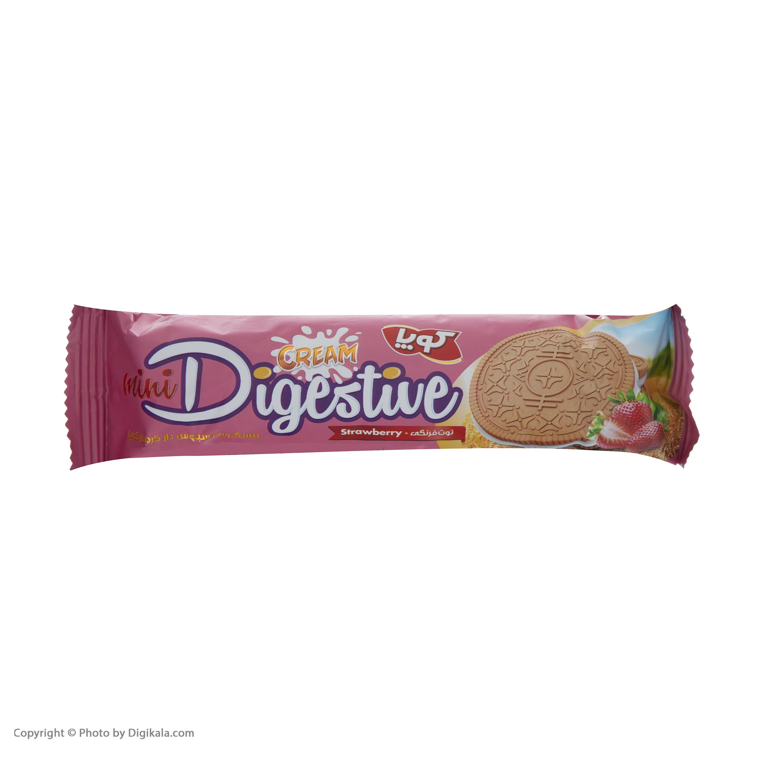 بیسکویت کرمدار دایجستیو کوپا با طعم توت فرنگی - بسته 24 عددی  main 1 4