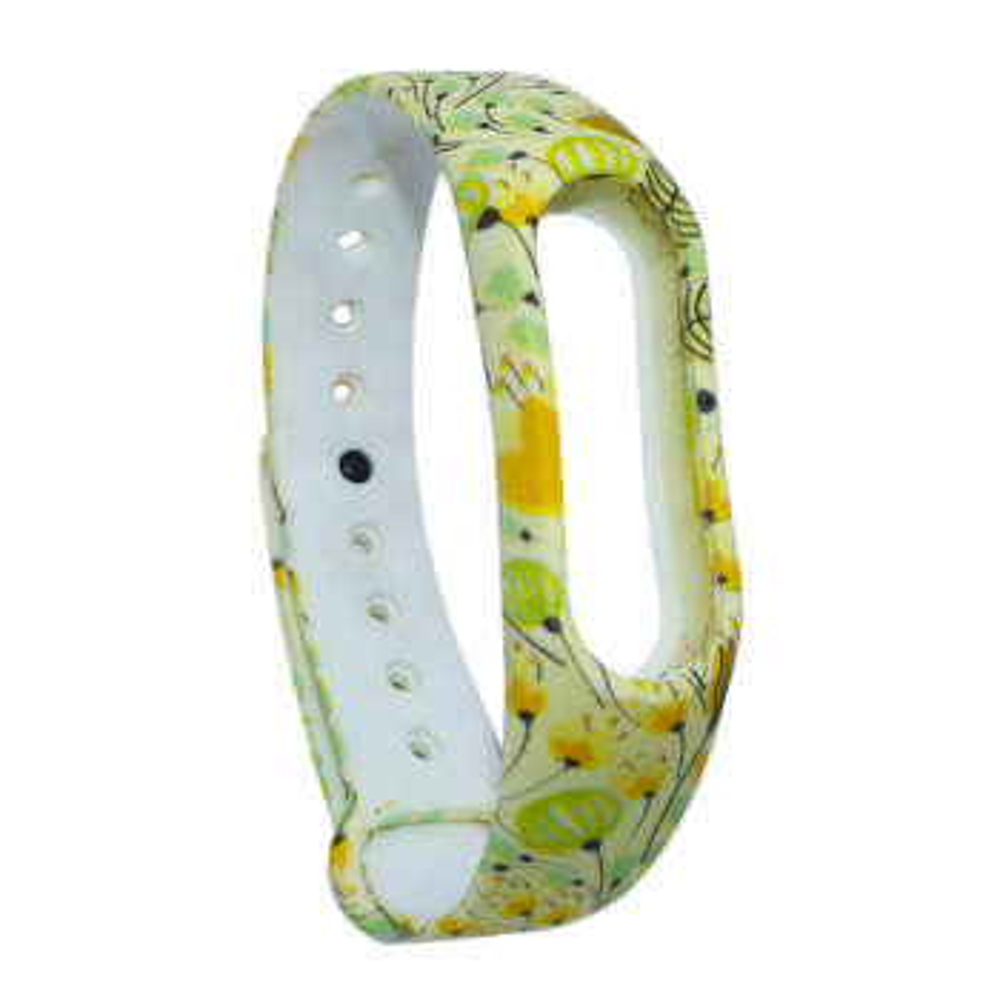 بند طرح Yellow flower مدل BN-01 مناسب برای مچ بند هوشمند شیائومی Mi Band 2