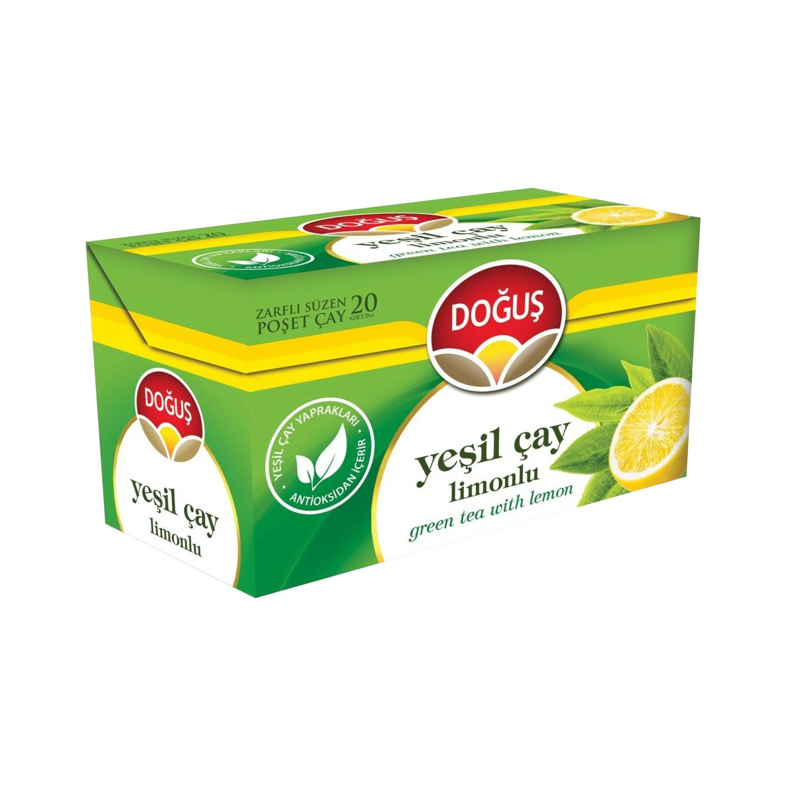 دمنوش چای سبز و لیمو دوغوش بسته 20 عددی