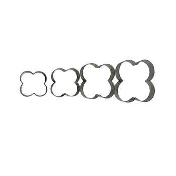 کاتر شیرینی پزی مدل Flowers مجموعه 4 عددی