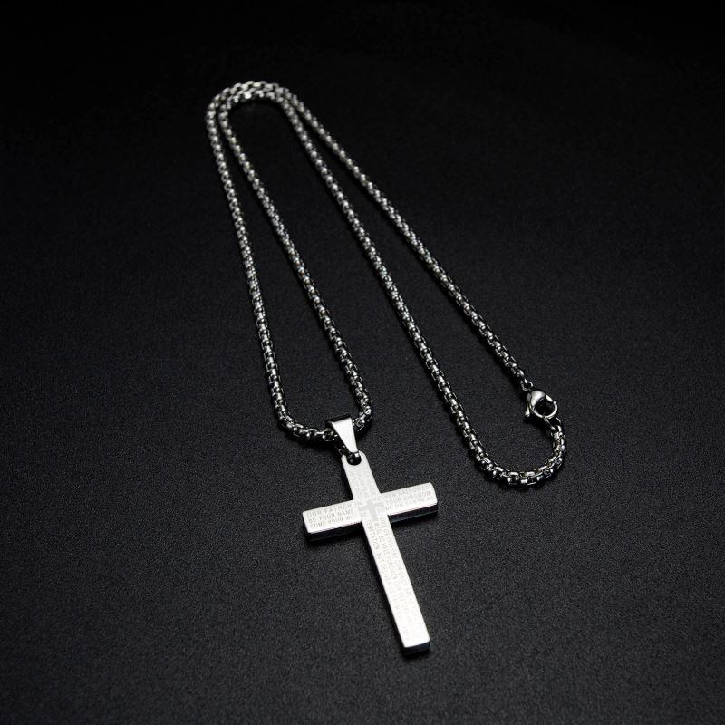 گردنبند مردانه طرح صلیب کد 9003