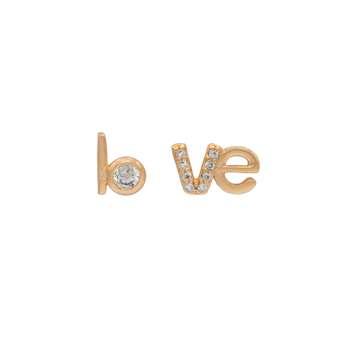 گوشواره زنانه ژوپینگ مدل Love کد 207128