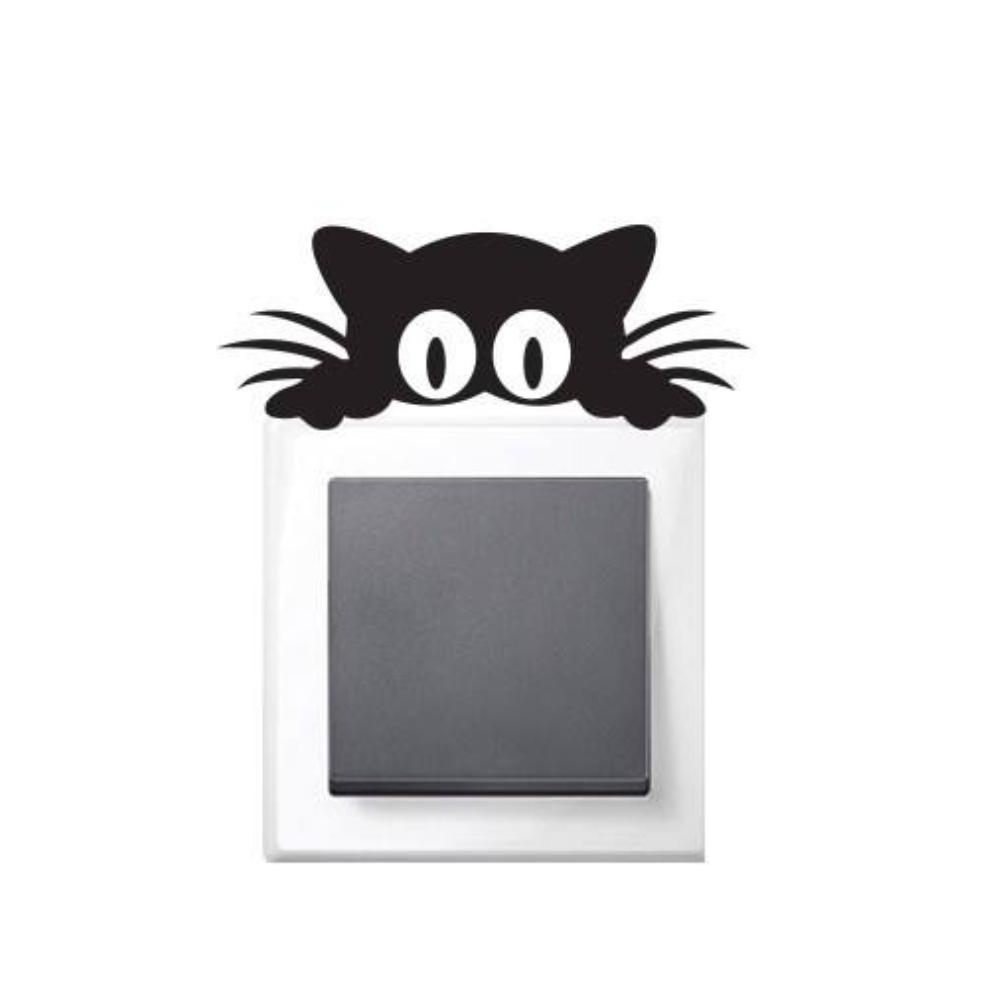استیکر فراگراف کلید و پریز FG طرح گربه چشم قلمبه