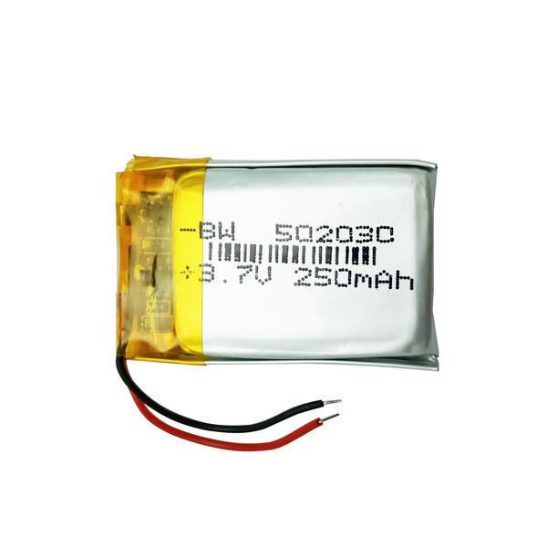 باتری لیتیومی مدل  502030 ظرفیت 250 میلی آمپر ساعت